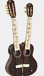Ortega Double Neck Tenor Ukulele Ziricote 4/8 string Hydra-ZS